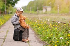 Child and Spring. Spring holidays concept. stock images
