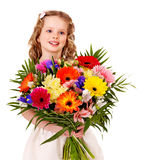 Child with spring flower. Stock Image