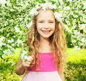 Child at spring royalty free stock photography