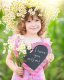 Child in spring Royalty Free Stock Image