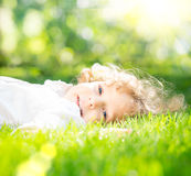 Child in spring park Stock Images