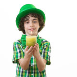 Child during St. Patrick Celebrations Stock Photography
