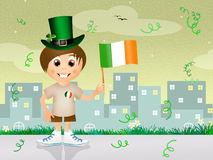 Child for St.Patrick Day Royalty Free Stock Image