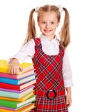 Child with stack book. Stock Photography