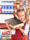 Child with stack book. royalty free stock photos