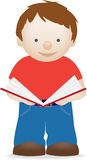 Child standing reading book Stock Photography