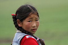 Child of the steppe Stock Image