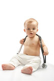 Child with stethoscope Royalty Free Stock Photography