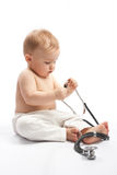Child with stethoscope Royalty Free Stock Photo
