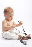 Child with stethoscope Royalty Free Stock Images
