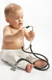 Child with stethoscope Stock Photo