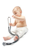 Child with stethoscope Stock Photography