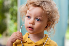 Child with a stethoscope Royalty Free Stock Photography