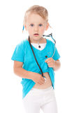 Child with stetoscope playing doctor Royalty Free Stock Images