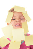 Child in stikers Royalty Free Stock Photography