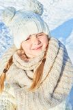 Child with stocking cap in winter royalty free stock photo