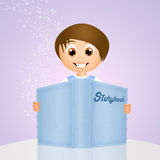 Child with storybook Royalty Free Stock Photo