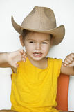 Child in a straw hat Stock Photos
