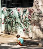 Child in the streets of Havana Cuba Royalty Free Stock Images