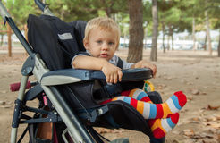 Child in stroller Royalty Free Stock Photography