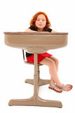Child Student Desk Smiling Royalty Free Stock Images