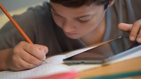 Child, Student, Education, School, Writing, Digital school stock video