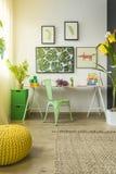 Child study room with desk Stock Photo