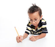 Child studying Royalty Free Stock Images