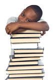 Child studying Royalty Free Stock Image