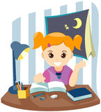 Child Studying Royalty Free Stock Photography