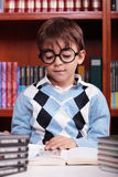 Child studying Stock Photo