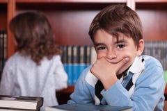 Child studying Royalty Free Stock Photo
