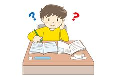 Child Studying vector image stock illustration