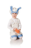 The child in a suit of a hare Royalty Free Stock Photography