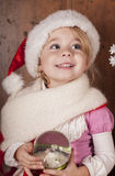 Child in a suit of Santa Claus Royalty Free Stock Photos