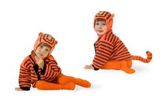 The child in a suit of a tiger Stock Images