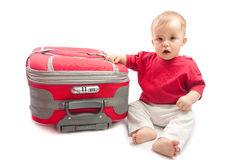 Child with suitcase Stock Photos