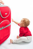 Child with suitcase Royalty Free Stock Image