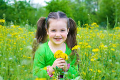 Child in summer Royalty Free Stock Photos