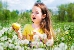 Child in summer Royalty Free Stock Images