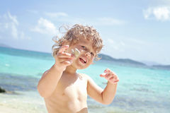 Child Summer Beach and Ocean Fun Royalty Free Stock Image