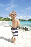 Child Summer Beach and Ocean Fun Stock Image