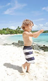 Child Summer Beach and Ocean Fun Stock Image