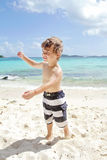 Child Summer Beach and Ocean Fun Royalty Free Stock Images