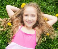 Child at summer royalty free stock images