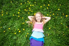 Child at summer royalty free stock photography