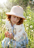 Child on summer meadow Royalty Free Stock Photo
