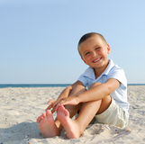 Child on summer vacations Stock Photos