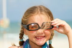 Child with sunglasses Stock Image