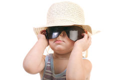 Child in sunglasses Royalty Free Stock Images